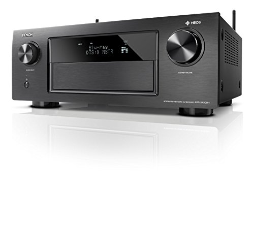 Denon 9.2 Channel Full 4K Ultra HD AV Receiver with built-in HEOS wireless technology, Dolby Atmos, DTS:X, HDCP2.2/HDR, MultEQ XT32 HDMI AL24 Plus