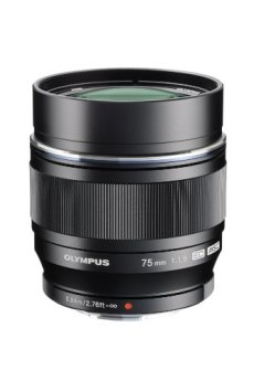 Olympus M.Zuiko Digital ED 75mm 1:1.8 MILC Tele - Objetivo (MILC, 10/9, Teleobjetivo, 0,84 m, Micro Cuatro Tercios, 7,5 cm)