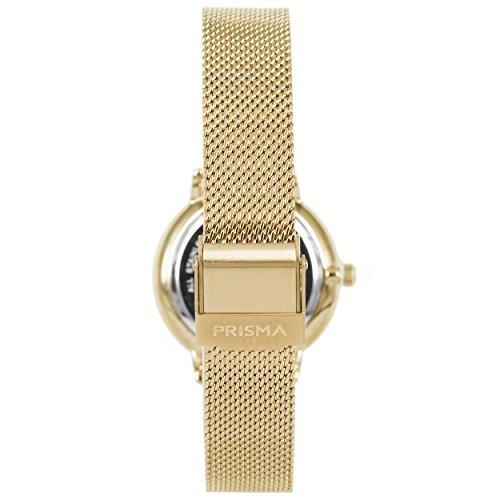 Prisma Damen Armbanduhr Retro Corum, Edelstahl gold mit Analog Quarzwerk, 5 ATM und Saphirglas P.1442 - 3