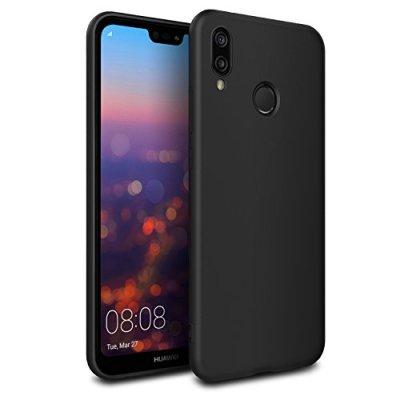 EasyAcc Custodia per Huawei P20 Lite, Morbido TPU Cover Slim Anti Scivolo Protezione Posteriore Case Antiurto E' Adatto per Huawei P20 Lite – Nero