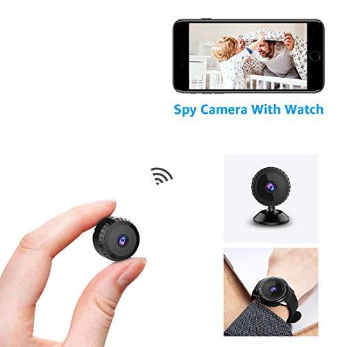 Nascosta Telecamera Spia AOBO 1080P HD Mini Cinturino Microcamere WiFi IP Wireless Rilevamento di...