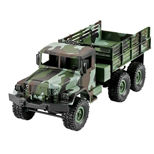 JERFER Mn-77 2.4 G 1:16 4Wd off-Road Camion Militare Rc Auto con Luci A LED RTR