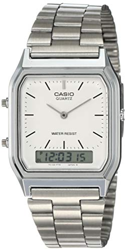 Casio Collection AQ-230A-7DMQYES, Orologio da Uomo, Analogico/Digitale al Quarzo con Cinturino in Acciaio Inox