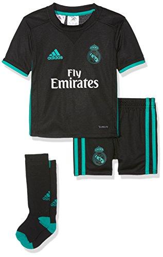 adidas Mini Conjunto Equipación Línea Real Madrid Temporada 2017/2018, Unisex, Negro (Arraer), 104