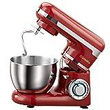 WSY Vollautomatische Küchenmaschine, 4L Edelstahl Ough Mixer 6-Gang-Küche Essen Küchenmaschine Egg Beater, für Küche