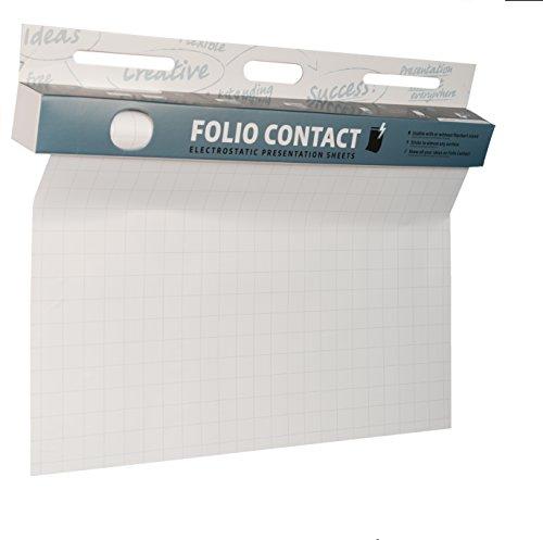 Folio Contact - Fogli elettrostatici per lavagna a fogli mobili, aderiscono a quasi tutte le...
