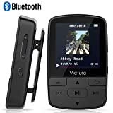 Victure Bluetooth MP3 Player 8GB Mini Sport Musik Player mit Clip, 30 Stunden Wiedergabe Musikplayer mit FM Radio, Unterstützt bis 128 GB SD Karte