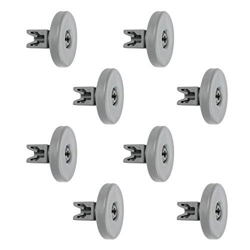 Spares2go cestino porta ruote per Grundig lavastoviglie (Large, confezione da 8)