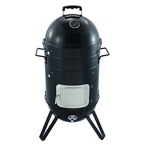 On features versus price graph, the Callow Premium Charcoal Smoker BBQ Grill is a great buy. It even includes a cover, something that's sold differently with many other models. This BBQ grill does the job and is especially ideal for smoking stuff. The build quality is good and it's easy to use. If you can get your own thermometer, then you'll be sure to get the best of this unit.