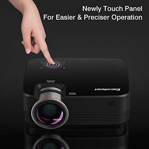 Excelvan Q6 Upgraded Projector 4Inch Mini Portable 1800 Lumens Projector