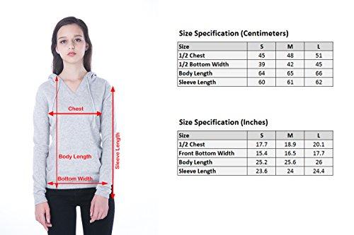 100% Kaschmir V-Ausschnitt Kordelzug Hoodie Pullover für Frauen - von CASHMERE 4 U (Large, Argent (Garu)) - 6