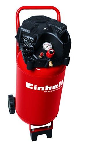 Einhell Kompressor TH-AC 240/50/10 OF (1500 W, 240 l/min Ansaugl., 50 l Kessel, 10 bar max. Betriebsdruck, öl- und wartungsarm, Druckminderer, Manometer)