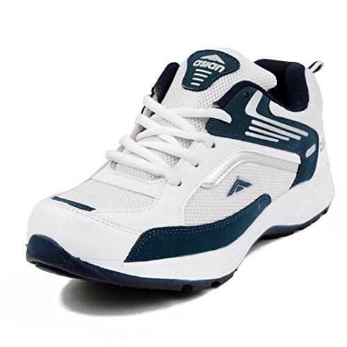 Asian Shoes Men's Mesh Running Shoes (FUTURE-01cWHTNBL-$8__White & Nevy Blue_8 UK)