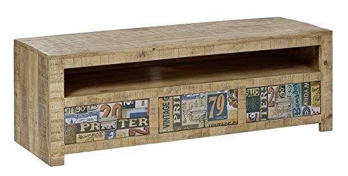Legno massello di Mango mobili legno Vintage laccato TV-board massiccio mobili in legno massiccio...