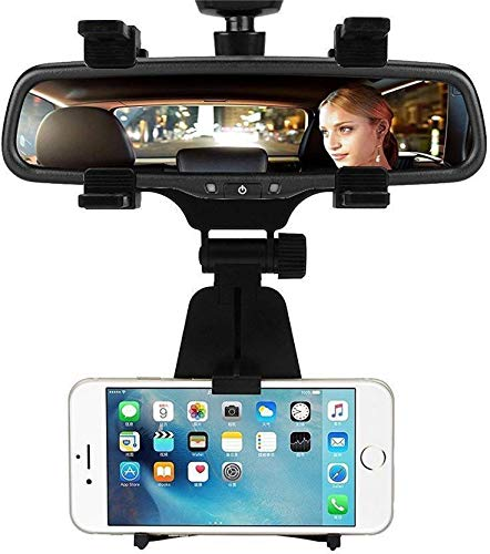 Gadget Deals Universal Car Rear View Mirror Mount Holder GPS Mount for GPS and Smartphone,