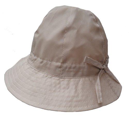 Damen Hut Regenhut Wetterhut Damenmützen Regenhüte Kofferhut (57, Beige)