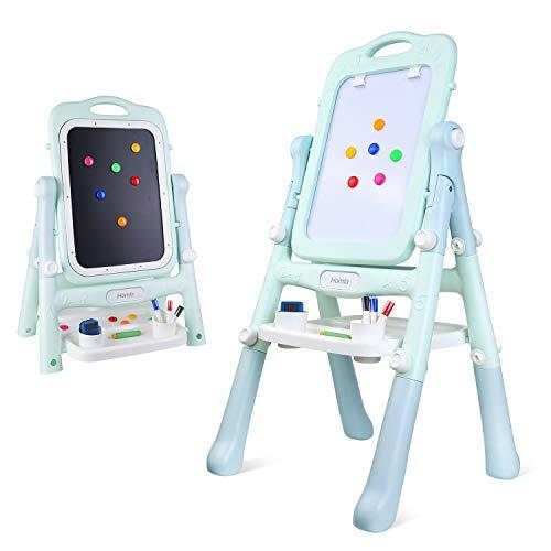 Homfa Lavagna Magnetica per Bambini 2-in-1, Lavagna Magnetica Cancellabile Pieghevole Lavagna...