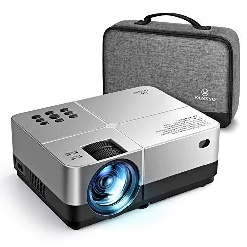 VANKYO Leisure 420 Mini Beamer, 4000 Lux LCD Beamer mit Tragbarer Tasche, 1080P Full HD Mini Projektor, Kompatibel mit TV Stick/TV Box/Xbox/Switch/ PS4/HDMI /VGA/USB/ AV/SD, Silber