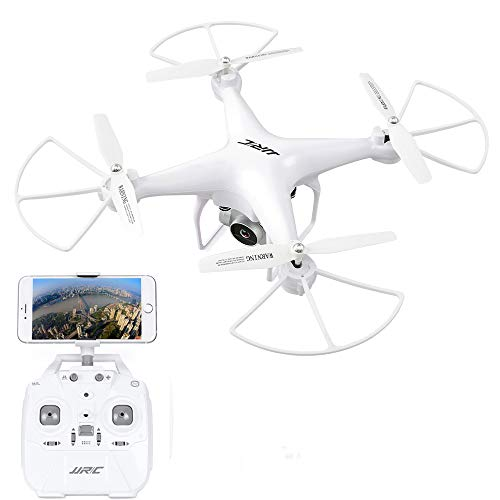 40 Minuti di Tempo di Volo RC Drone, H68 FPV Quadcopter con 720P HD Fotocamera Live Video Trasmissione in Tempo Reale Altoparlante Hold Mode Altitude Hold Helicopter 2 Batteries - Bianco