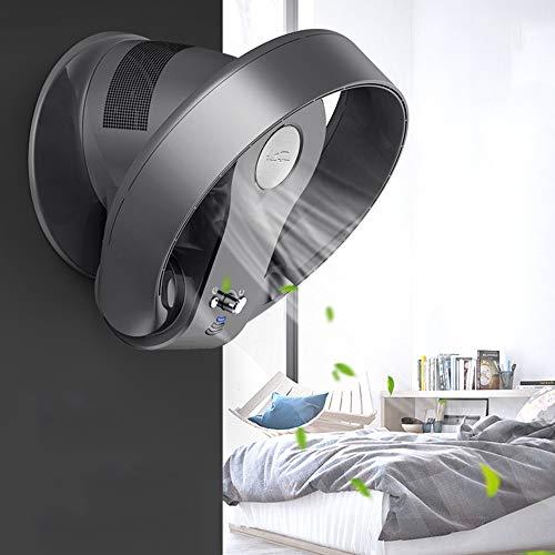 HRD Ventilatore da Parete Senza Pale, con Telecomando/Timer, Ventilatore raffreddata, Argento/Nero,...