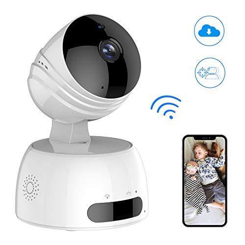 ROXTAK Telecamera di Sorveglianza WiFi,Telecamera WiFi Interno di 720P Wireless IP camera,Obiettivi Ruotabile,bambini monitor, con Visione Notturna, Audio Bidirezionale, Compatibile con iOS Android PC