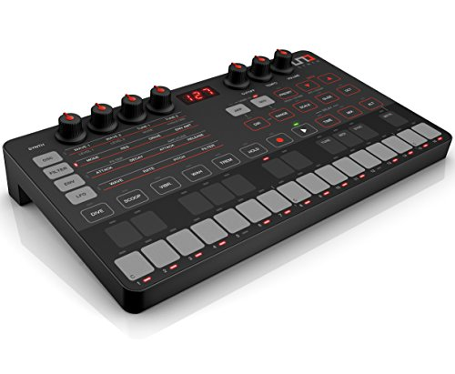 Ik Multimedia UNO Synth - Sintetizador analógico (USB, pantalla LED, VCO), color negro