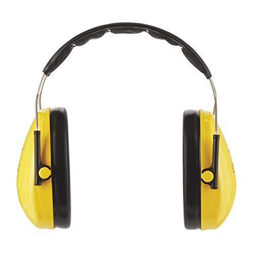 3M Peltor Optime I - Orejeras de protección – protectores auditivos de hasta 98 dB – cascos protectores ligeros y ajustable para el uso de herramientas eléctricas – color amarillo