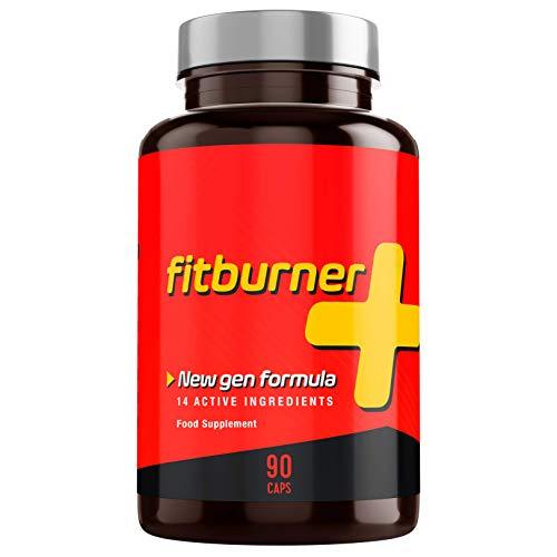 Fitburner+   Abnehmen - F-Burn - Kraftvolle Formel mit 14 Qualitätszutaten   Für Frauen und Männer   90 pflanzliche Kapseln