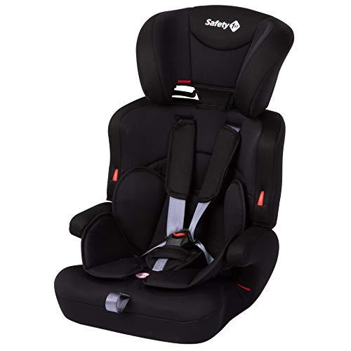 Safety 1st Ever Safe Plus Seggiolino auto 9-36 kg Gruppo 1/2/3 per bambini dai 9 mesi ai 12 anni, Seggiolino Auto Universale, Con Riduttore Imbottito Bimbi Piccoli, colore Nero