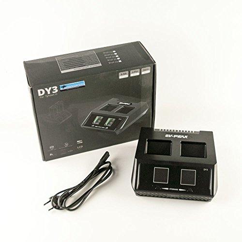 EV-Peak - Caricatore DUO DY3 per batteria Yuneec Typhoon H - fino a 2 batterie 70 W 6 AMP 2 CH - 1 click