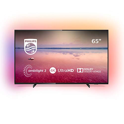 Philips Ambilight 65PUS6704/12 Fernseher 164 cm (65 Zoll) LED Smart TV (4K UHD, HDR 10+, Dolby Vision, Dolby Atmos, Smart TV) Schwarz