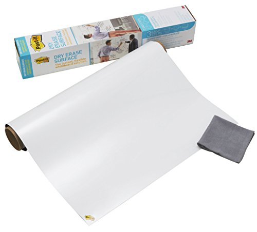 3M Post-it Super Sticky Dry Erase - Lavagna adesiva cancellabile in rotola, 60,9 cm x 91,4 cm,...