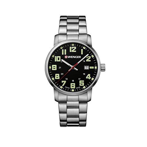 Wenger Unisex Erwachsene Analog Quarz Uhr mit Edelstahl Armband 01.1641.111