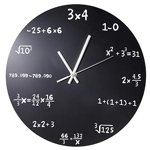 xuyuandass Orologio da Parete Grande Matematica Creativa Lavagna Pop Quiz Design Moderno Grandi...