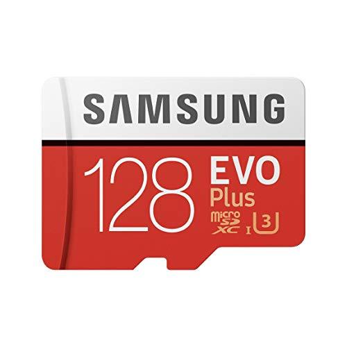 Samsung Memorie MB-MC128GA EVO Plus Scheda microSD da 128 GB, UHS-I U3, con Adattatore SD