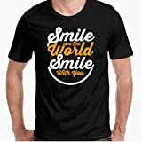 Camiseta - diseño Original - The World Smile with You - XL