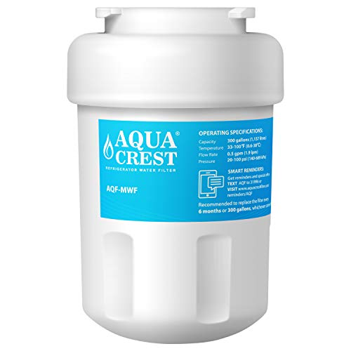 AQUACREST MWF Filtro acqua Frigorifero, compatibile con General Electric GE SmartWater MWF, MWFA,...