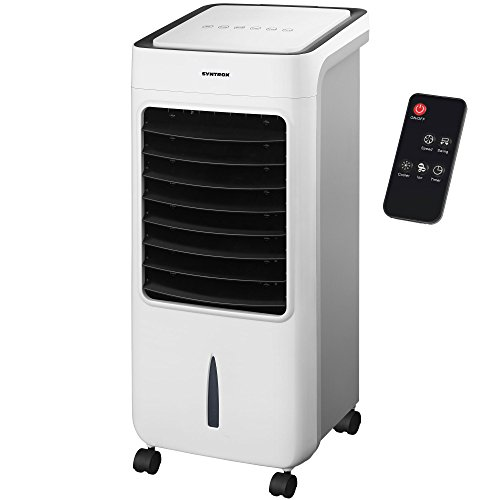 Syntrox Germany 4 in 1 Luftkühler Luftbefeuchter Lufterfrischer und Ventilator mit Touch Panel und Fernbedienung Luftdurchsatz 900 m³/h AC-80W-8L Breeze