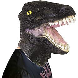 Oxsaytee Máscara de Halloween Cabeza de Animal de látex, Máscara de Cabeza de Animal, Máscara de Dinosaurio asustadiza para la Noche de Fiesta de Halloween