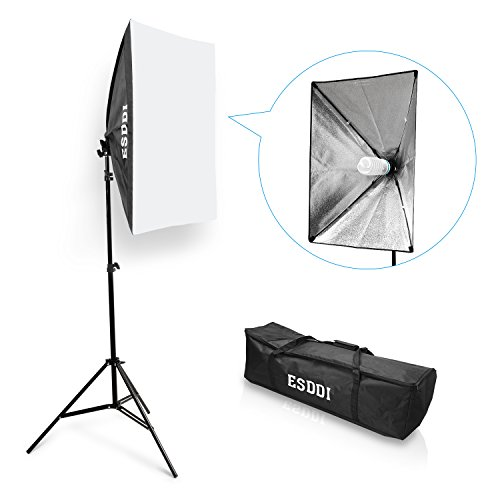 ESDDI Softbox 50x70cm Set Luci Studio Fotografico Luce Continua Studio Kit 85W Lampade Fotografia...