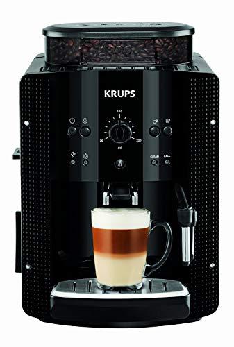 Krups EA8108 Kaffeevollautomat (automatische Reinigung, 2-Tassen-Funktion, Milchsystem mit CappucinoPlus-Düse, 15 bar, Kaffeemaschine, Espresso, Kaffeeautomat) schwarz