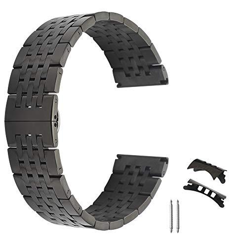304 orologio in acciaio inox di qualità 22 millimetri cinghia della fascia ipo metallo guardare allergica in chiusura di distribuzione nero