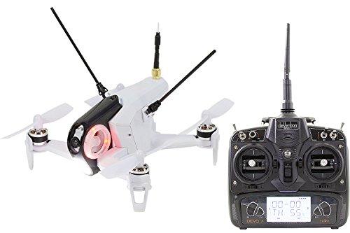 Walkera 15004400FPV Quadrirotore Rodeo Racing 150RTF Drone con Telecamera HD, Batteria, Caricabatterie e Telecomando Devo 7, Bianco