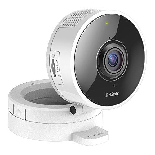D-Link DCS-8100LH Telecamera Panoramica 180°, Wi-Fi, HD, Audio a Due Vie, Registrazione Cloud Gratuita, Funziona con Alexa