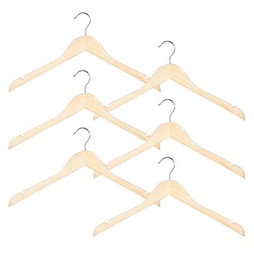 Richards Homewares Imperial/Juvenile Set/6 Wood Children's Shirt/Coat Hangers (Set of 6)