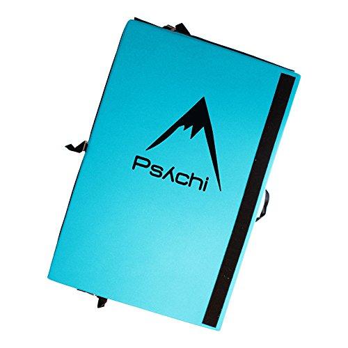 Tri Psychi trípticas Bouldering Boulder implay Triple para escalar con correas de transporte Azul azul Talla:90*180*12.5cm