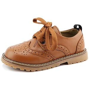 CCTWINS KIDS Toddler Little Kid Girl Boy Dress Oxford Leather Shoe 4153XdVBvuL