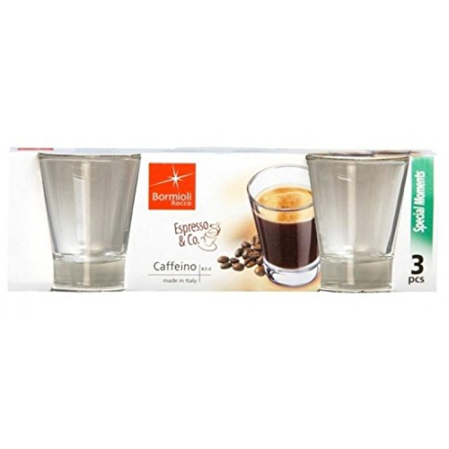 Bormioli 2 confezioni da 3 bicchieri da caffè Caffeino Cl 8,5