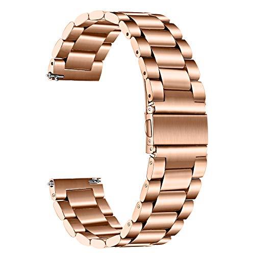 TRUMiRR Compatibile con Fossil Gen 4 Venture HR Cinturino, 18mm Cinturino in Metallo Massiccio in Acciaio Inossidabile Cinturino a sgancio rapido Bracciale per Fossil Gen 3 Q Venture, DW 36mm