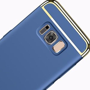 GadgetsWale Galaxy S8, S8 Plus Blue Back Cover Ultra Thin Electroplated Gold Plating Case 22  GadgetsWale Galaxy S8, S8 Plus Blue Back Cover Ultra Thin Electroplated Gold Plating Case 415Qc5MRlWL